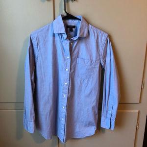 J. Crew Classic Blue Button Down Shirt
